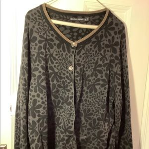 Gudrun Sjoden black and brown cardigan